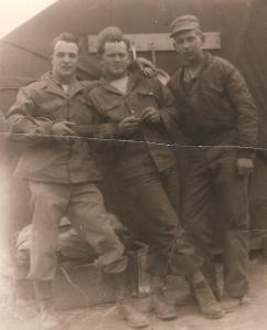 1952 GlennwithtwoBuddiesinCamp